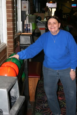 Debbie is ready to bowl!