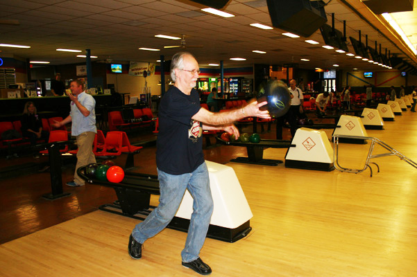 Even with this surprise picture, Dana still scored a solid strike!