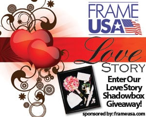Frame USA Shadowbox Love Story Giveaway
