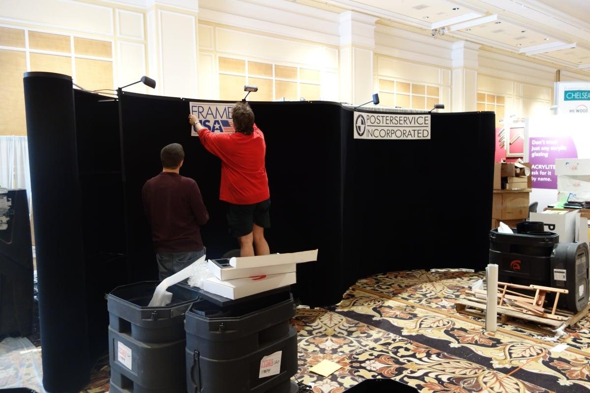 FrameUSA's WCAF Booth - Setup 1