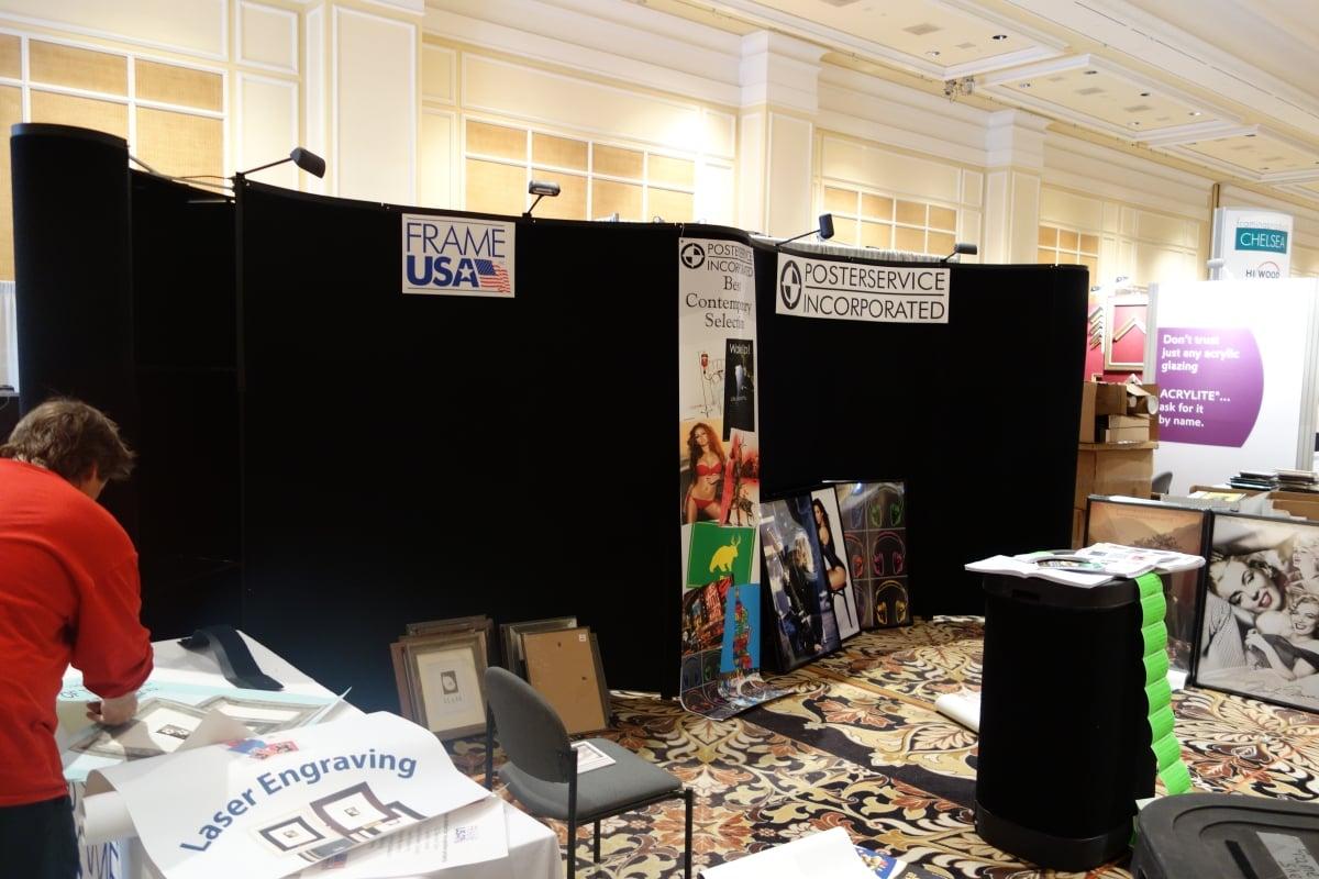 FrameUSA's WCAF Booth - Setup 2