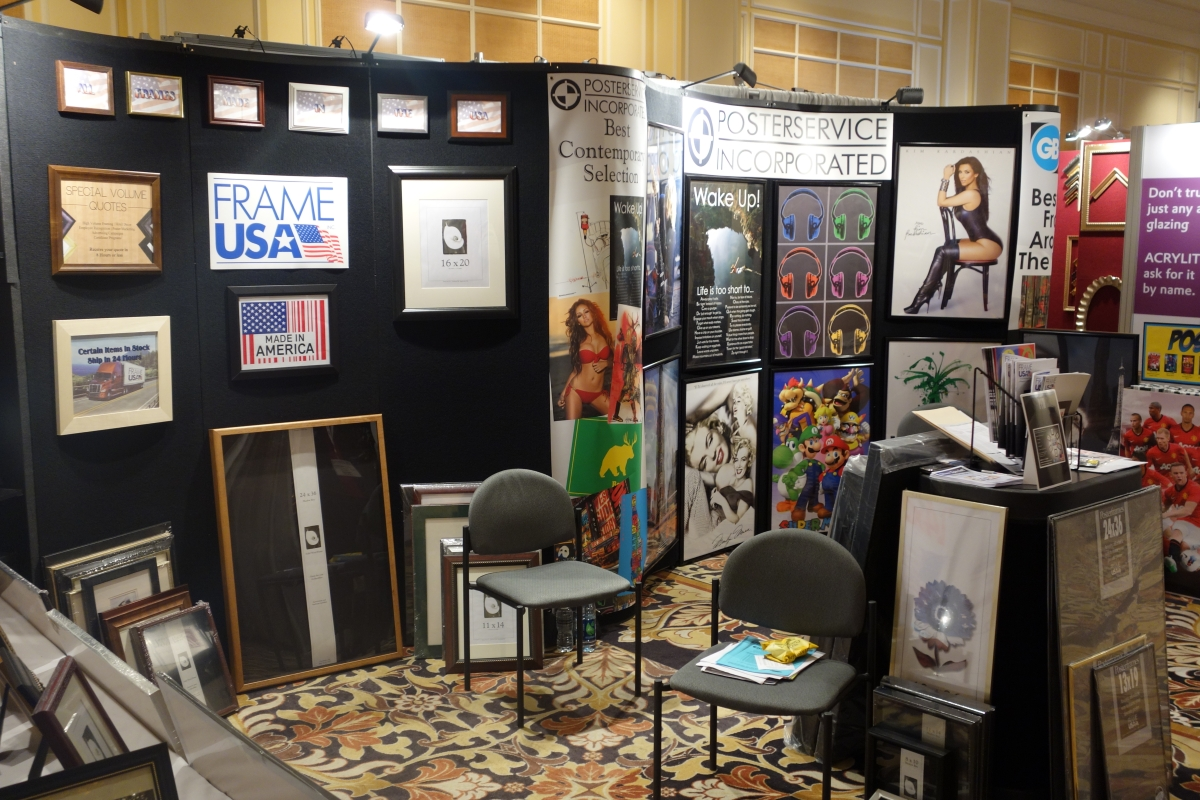 FrameUSA's WCAF Booth