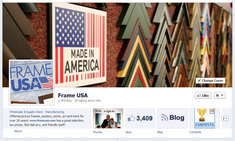 Frame USA Facebook Page