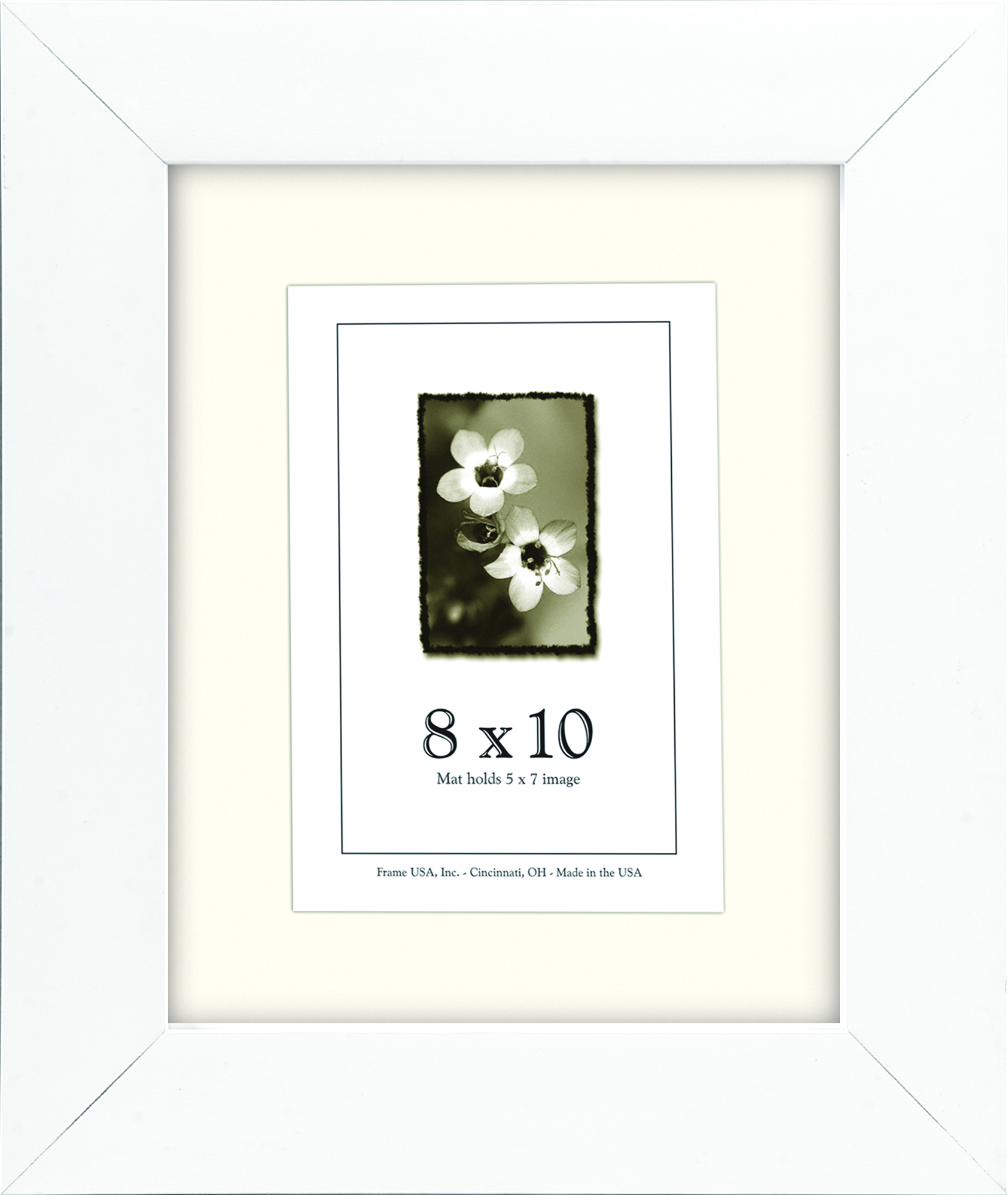 abstract series - white frame