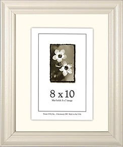 value added white picture frame