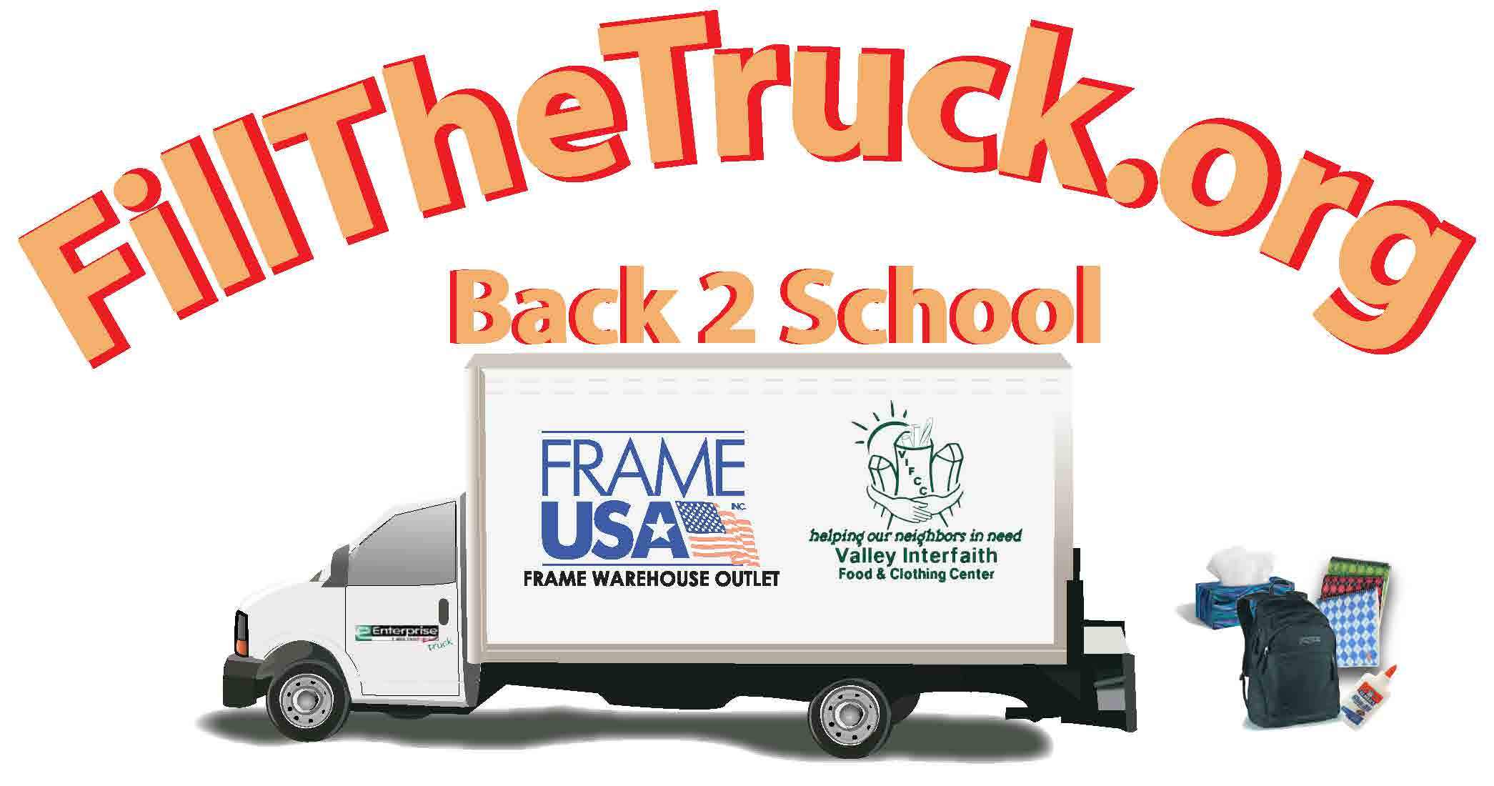 Fill the truck back to school logo