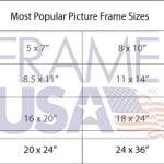 Most Popular Frame Sizes