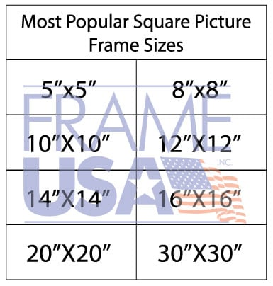 Square Picture Frame Sizes