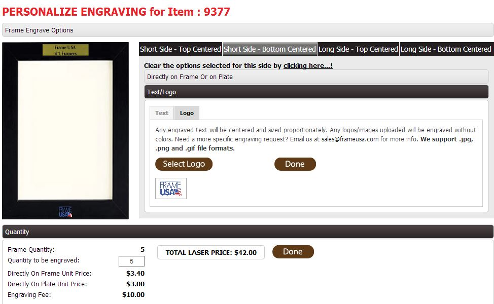 Engraved Picture Frames and Our NEW Web App!