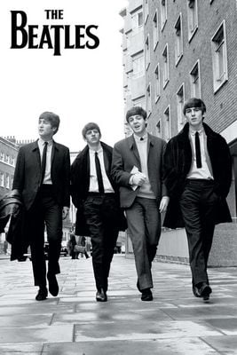 Beatles Walking Poster