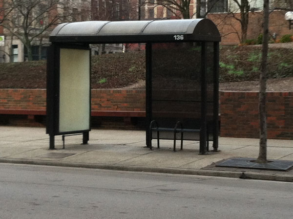 METRO Bus Shelter - Before