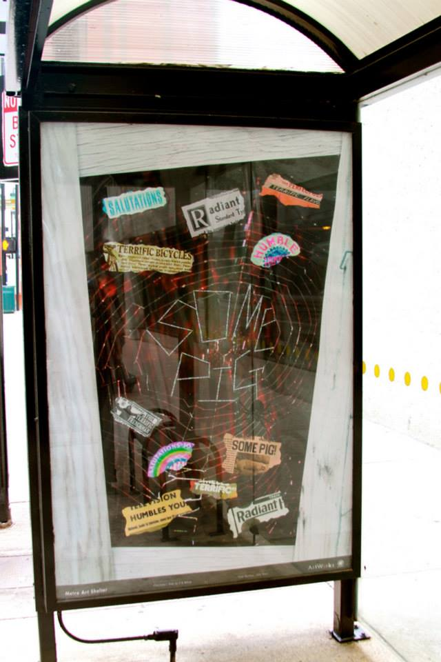 Charlotte's Web - Cincinnati METRO Bus Shelter Art Project