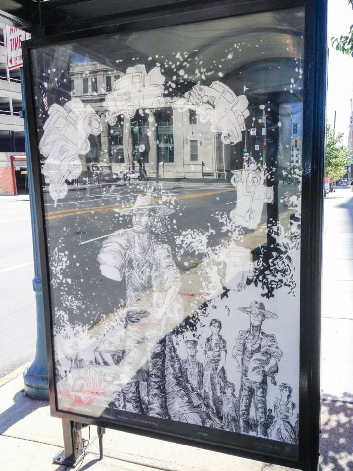 Grapes of Wrath - Cincinnati METRO Bus Shelter Art Project