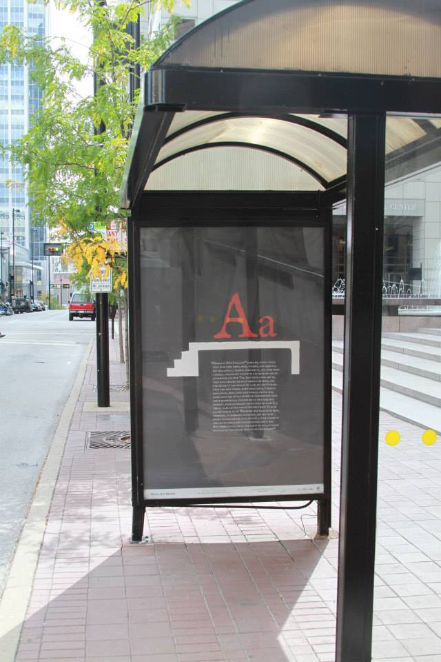 Scarlett Letter - Cincinnati METRO Bus Shelter Art Project