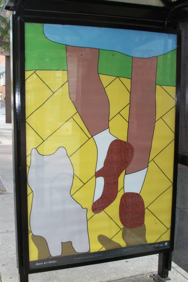 Wizard Of Oz Cincinnati Metro Bus Shelter Art Project Frame