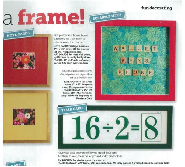 Frame Usa Diy Picture Frames Featured In Hgtv Magazine