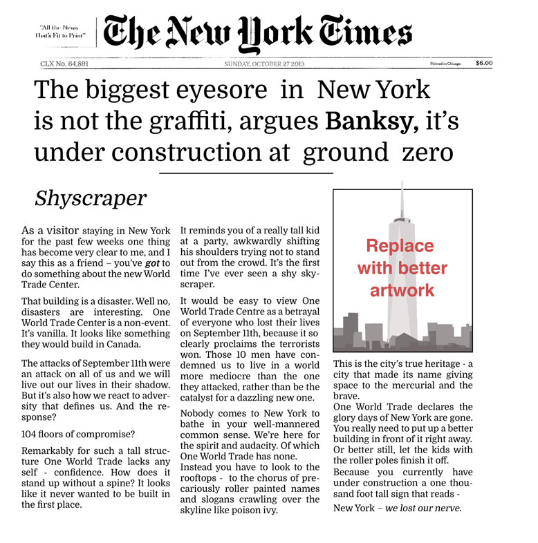 Banksy - New York Post