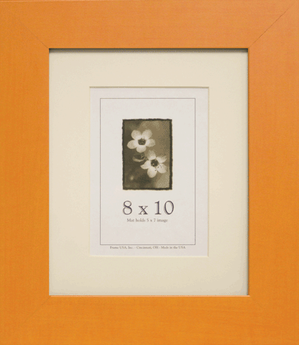 Large Orange Picture Frame