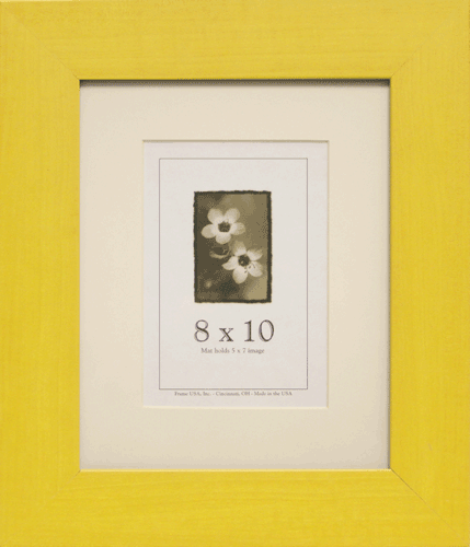 Large Yellow Picture Frame
