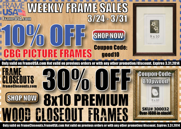 Weekly Picture Frame Sale – 3/24 – 3/31