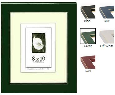 Colored picture frames