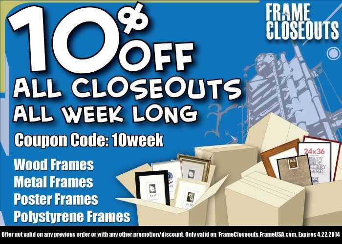 Save BIG on Cheap Closeout Picture Frames!