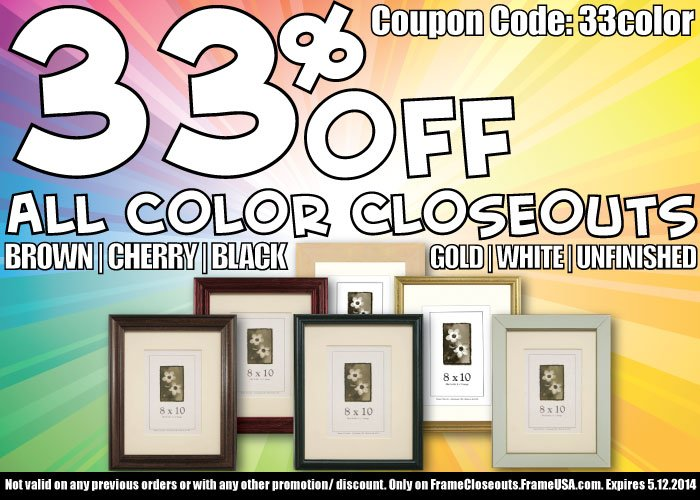 Closeout Picture Frame Sale! -