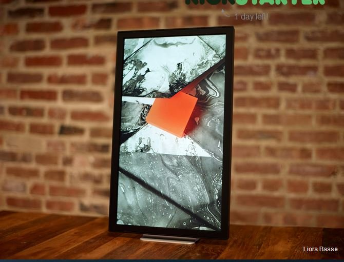 not to be confused with the digital picture frame a digital canvas seems to be the new way to display artwork for gallery presentation when displaying
