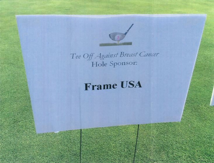 """Frame USA Sponsors """"Tee Off Against Breast Cancer"""""""