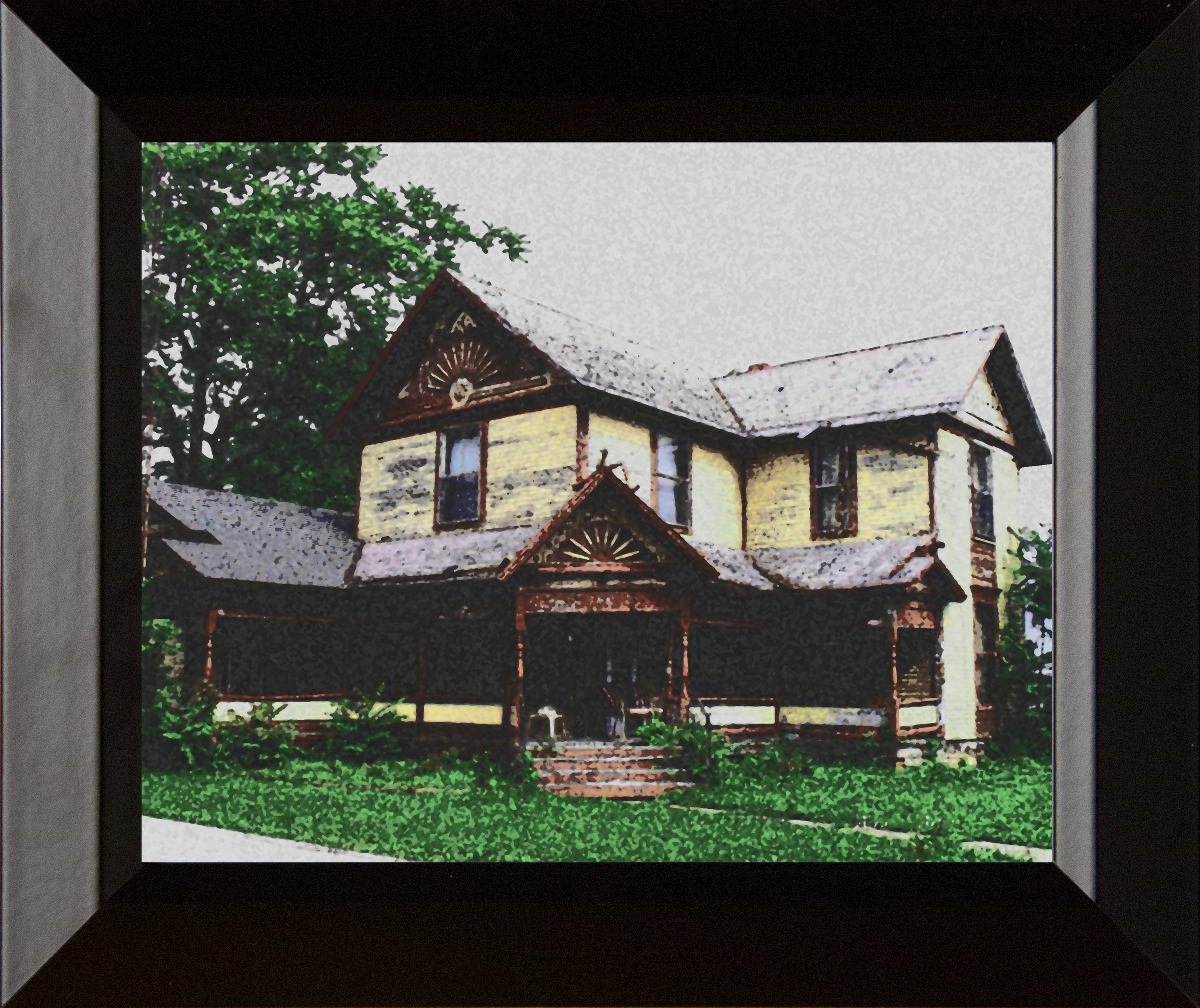 Framed Childhood Home