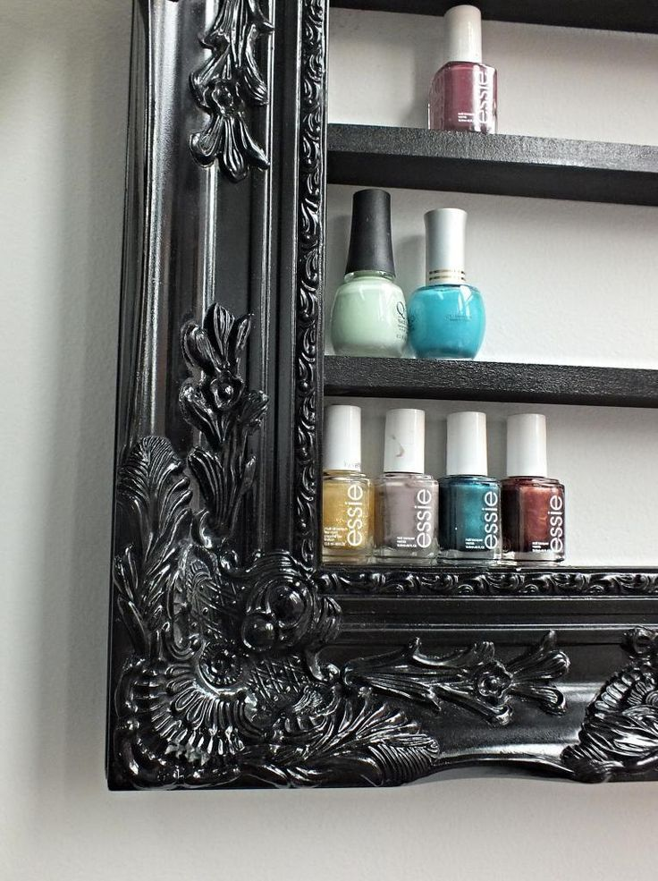 Upcycled Picture Frame Polish Rack