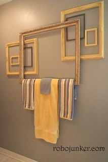 Upcycled Picture Frame  Art Bathroom