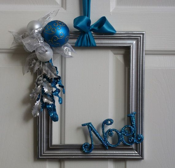 Upcycled Picture Frame Wreathe Decoration