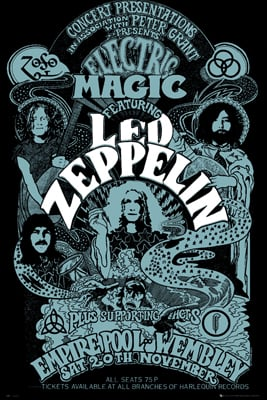 Zeppelin Wembley Poster