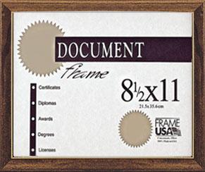 Deluxe Certificate Frame, Walnut
