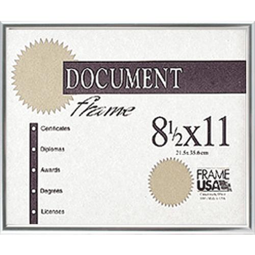 Metal Certificate Frame, Silver