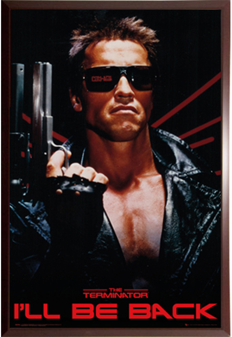 Terminator in a Budget Saver Black Frame