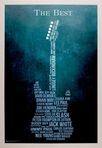 Framed Guitar Music poster