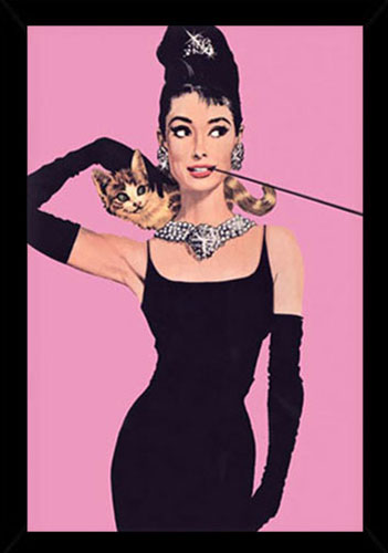 Framed Aubrey Hepburn Poster