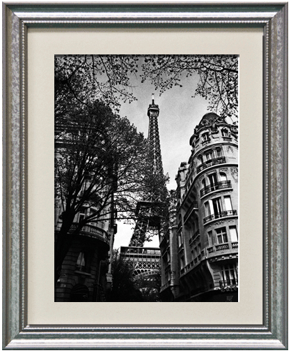 Eiffel Tower/American Value Silver Frame