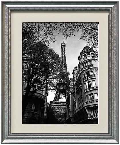 Eiffel Tower/American Value Silver Frame