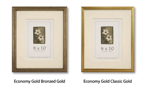 Economy Gold Picture Frames