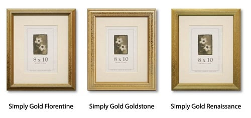 Simply Gold Picture Frames