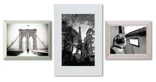 White Frames Black and White Image