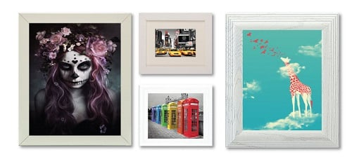 White Frames with Bright Images