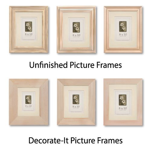Unfinished & Decorate-It Picture Frames