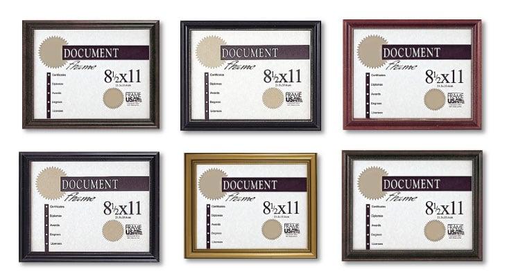 Boardroom Certificate Frames