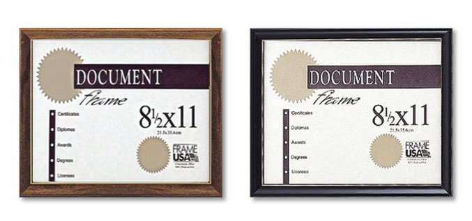 Deluxe Frames For Certificates