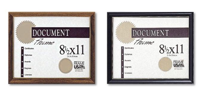 Deluxe Frames For Certificates