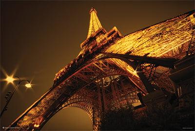 Glowing Eiffel Tower